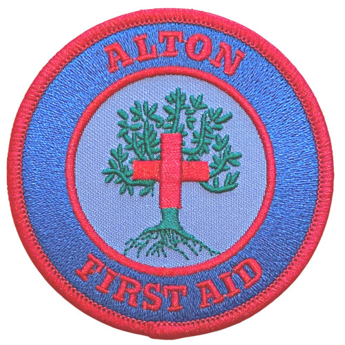 Alton First Aid woven heat seal patch