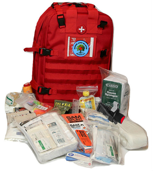 Stomp Plus Trauma and First Aid Kit for disaster supplies, RV travel, boating, camping, car and home use