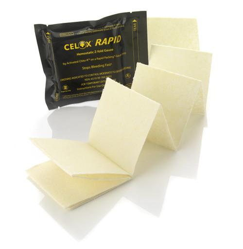 Celox Rapid Gauze Z-Fold 5 feet long by 3 inches wide