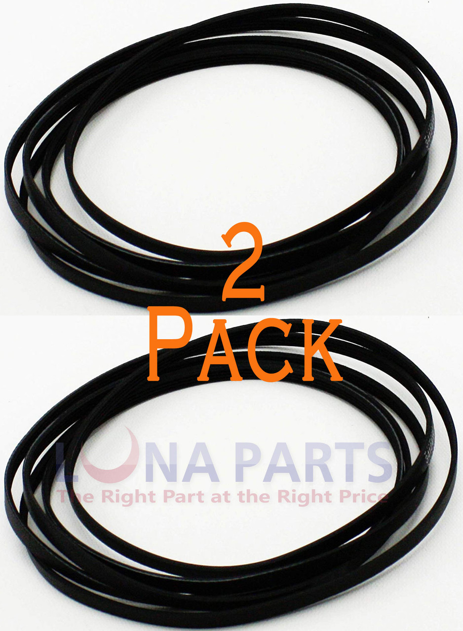 2 Pack Rca Camco Mabe Penncrest Sears Dryer Drive Belt We12x10011