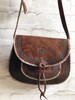 Hand Made Embossed Leather Saddle Bag
