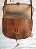 Leather Hand embossed Saddle Bag