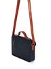 Mini Classic Leather Satchel - Navy