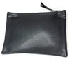 set of 3 cosmetic bag set grey and metallic gold