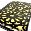 Set of 3 cosmetic bag set black and metallic gold