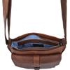 Medium Leather Messenger Bag - Tan