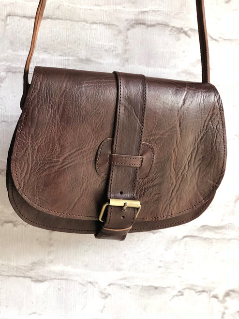 Hand Crafted Leather Saddle Bag