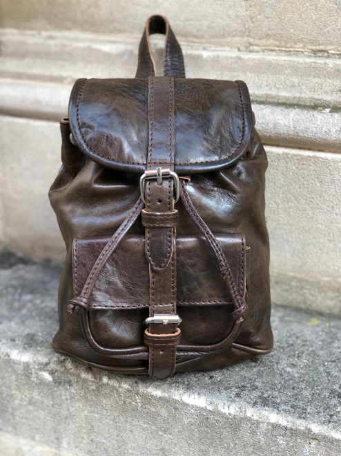Sheepskin Leather Mini Backpack