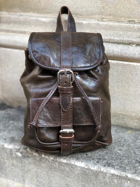 Sheepskin Leather Mini Backpack