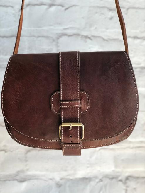 Hand Made Leather Saddle Bag
