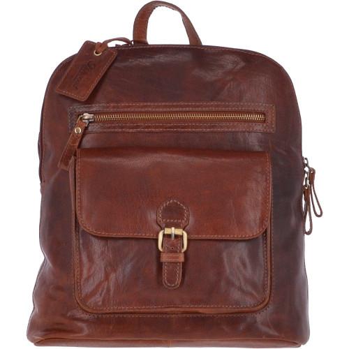 Large Ladies Leather Backpack Honey Tan