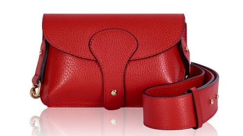 Red Mini Leather Crossbody