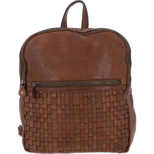 Leather Vintage Wash Backpack - Taupe