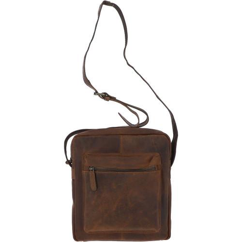Vintage leather crossbody bag - Tan