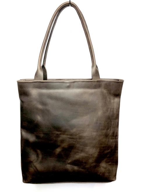 Classic Hunter Leather Tote Shopper Bag - Brown