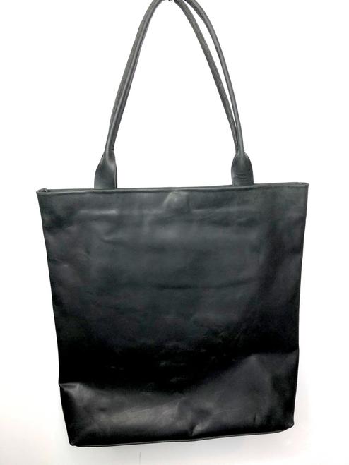 Classic Hunter Leather Tote Shopper Bag - Black