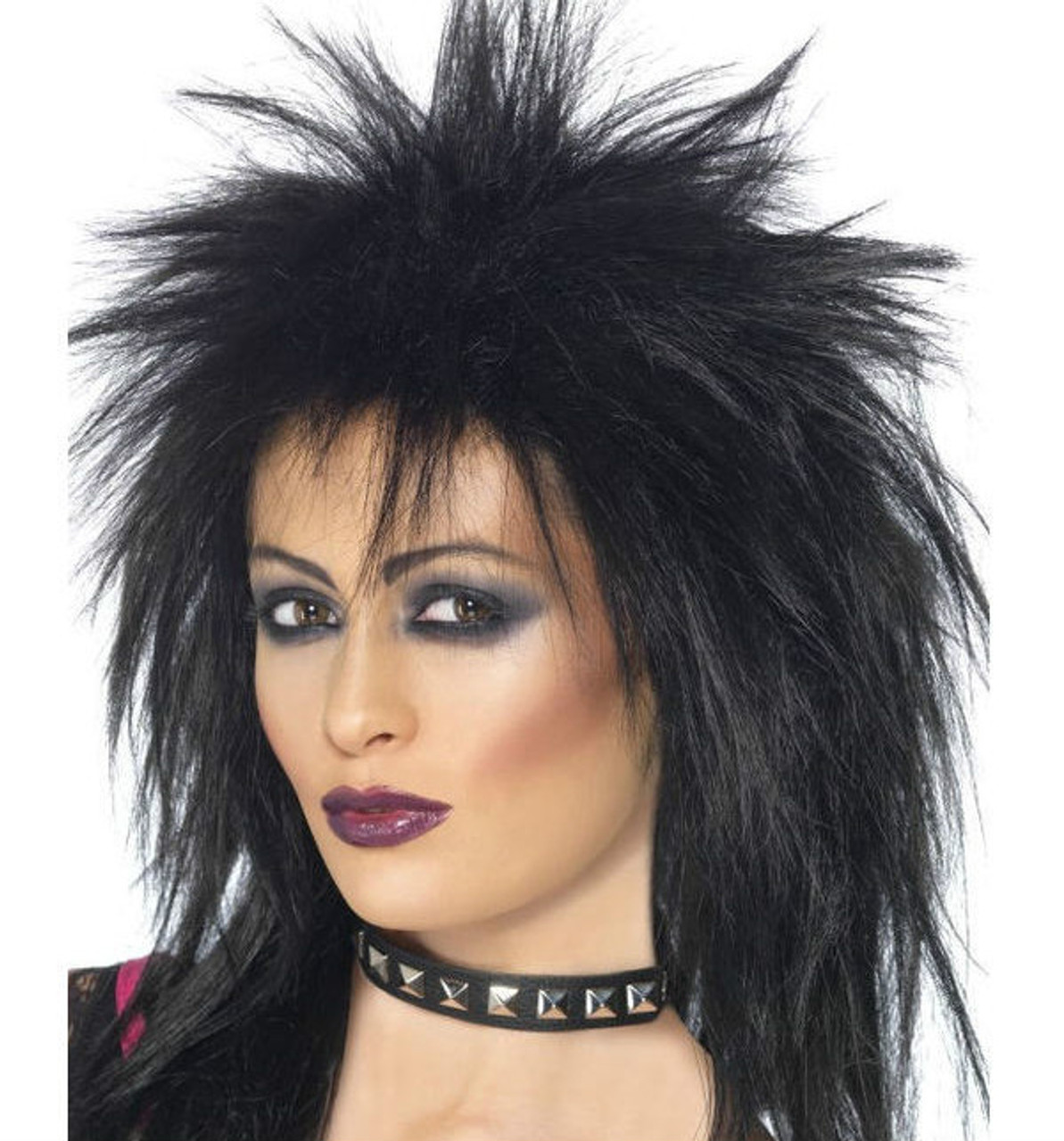 ROCK IT PURPLE PUNK 1980S MULLET ADULT MENS WOMENS WIG