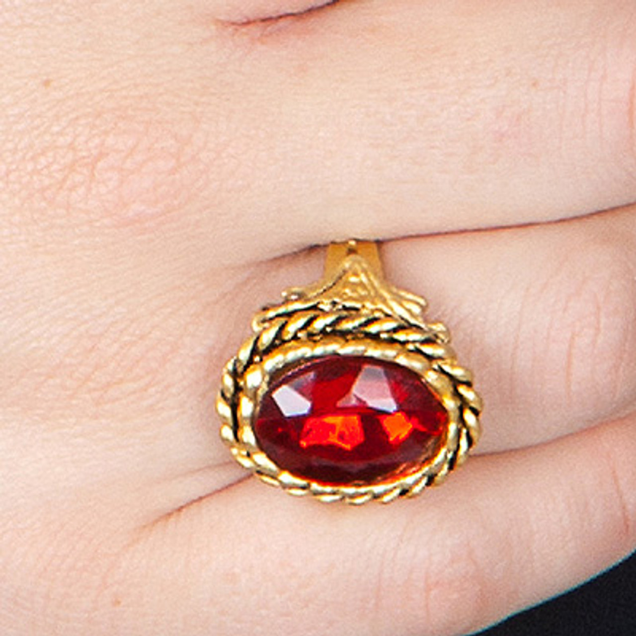 Fancy Dress Party Ring Jewelery Pimp Pirate Gothic Gold Silver Gemstone Cosplay