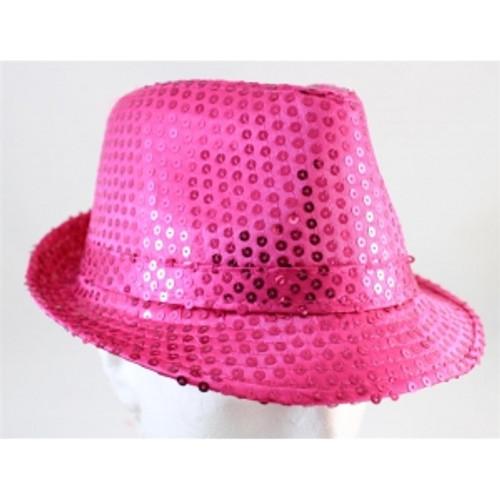fc48e9961 Sequin Fedora Neon Pink Hat | Trademart