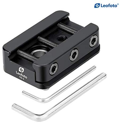 Leofoto NATO Picatinny Dovetail Adapter Plate- Picatinny Rail to Arca Swiss Adapter Plate- GS-1