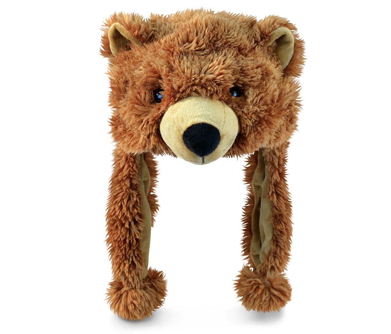 super soft brown bear hat