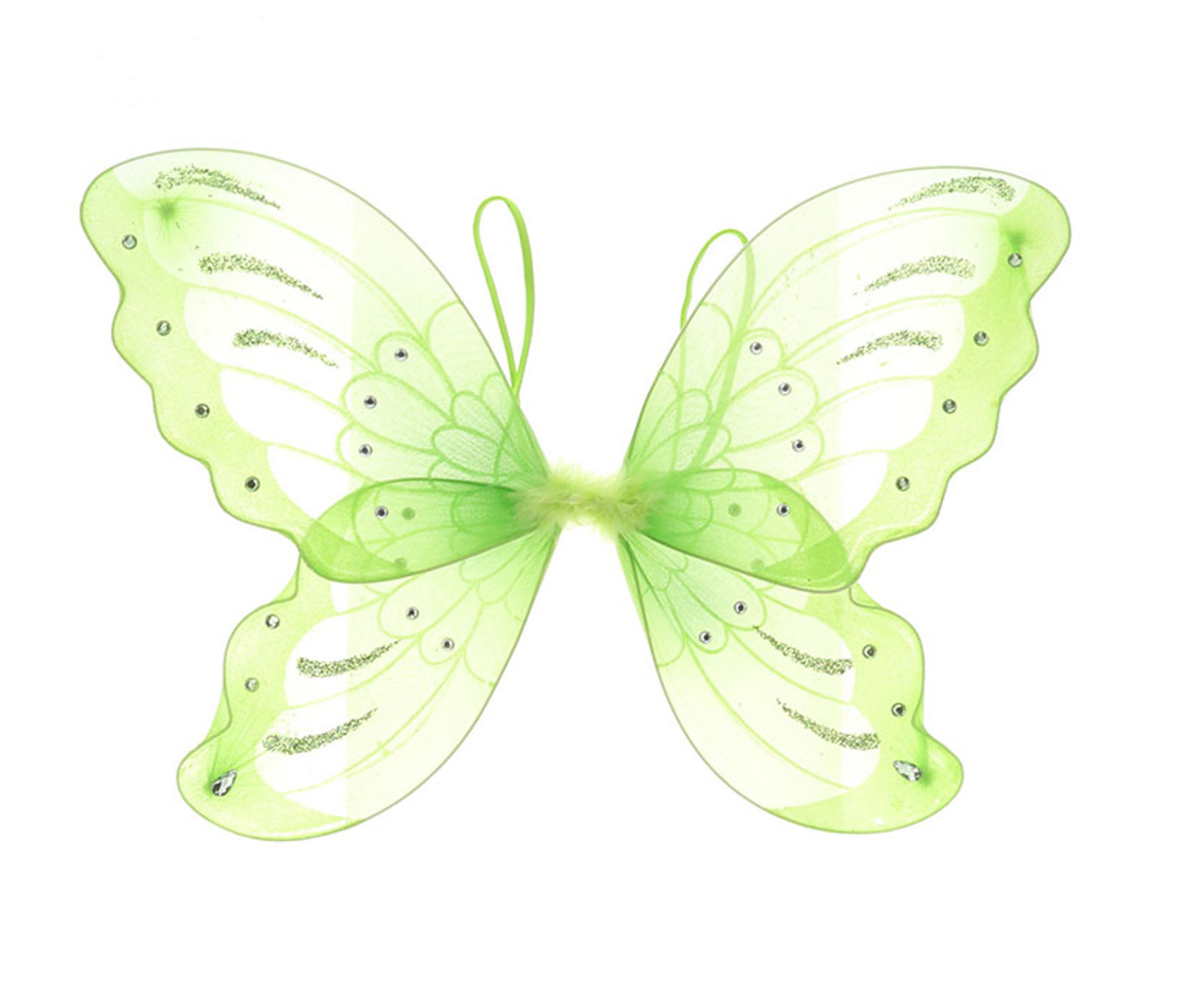 Green Glitter Children Butterfly Wings Costume Accessory