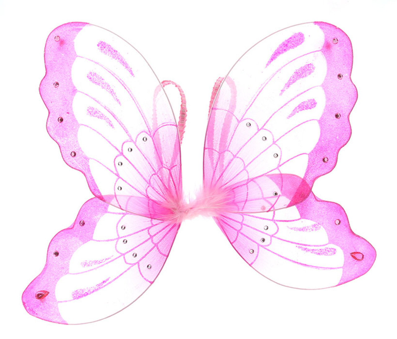 Pink Glitter Children Butterfly Wings Costume Accessory