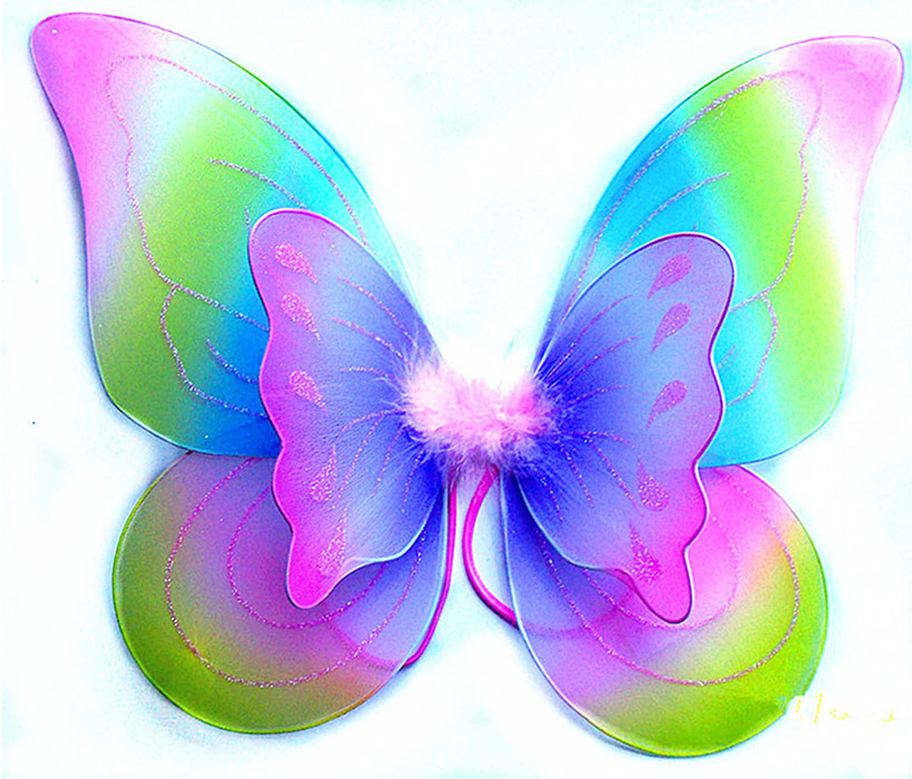 Awesome Rainbow Children Butterfly Wings Costume Accessory