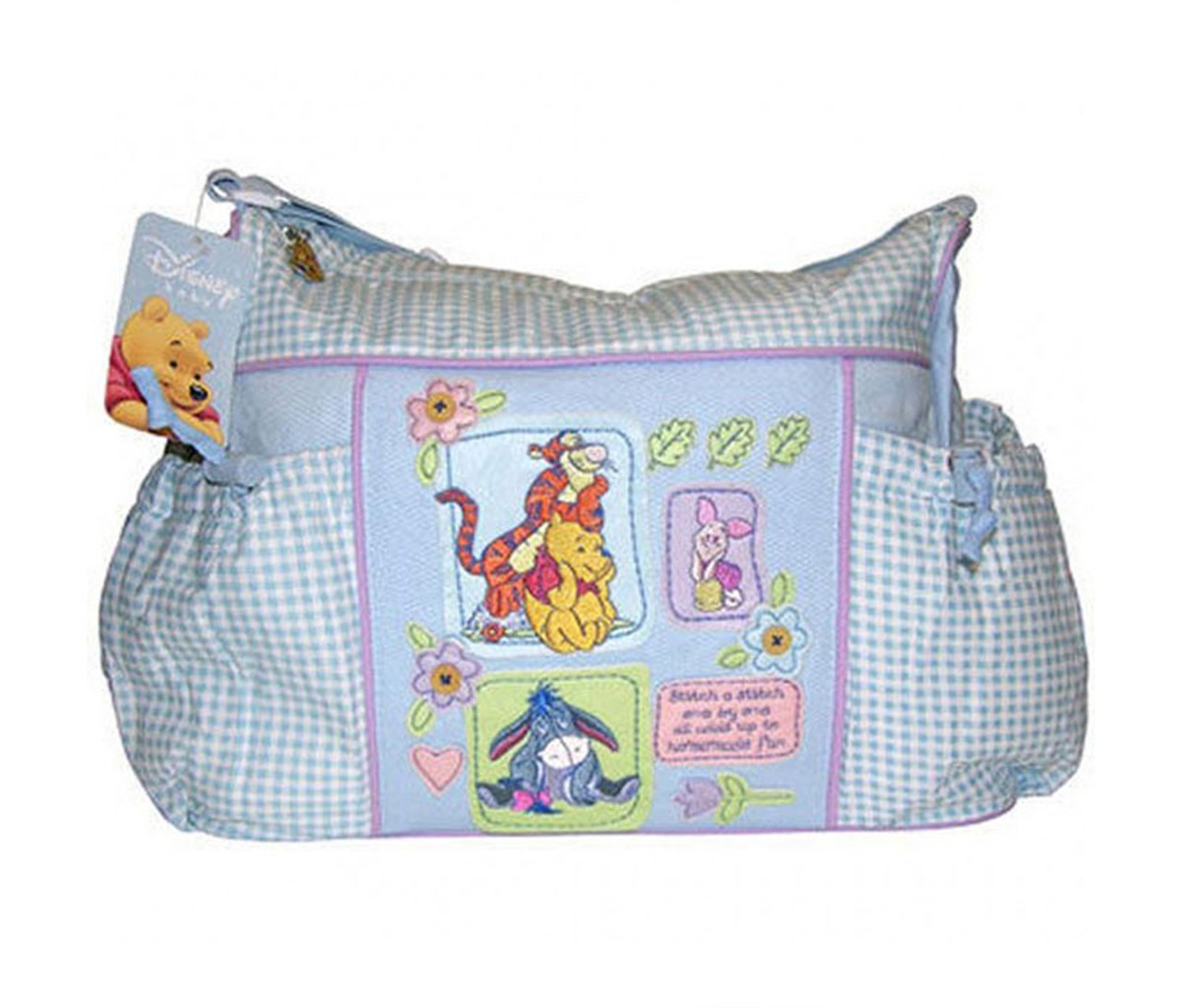 4e29511dc331 ... Accessories Disney Baby Winnie The Pooh Blue Gingham Diaper Bag · 109018