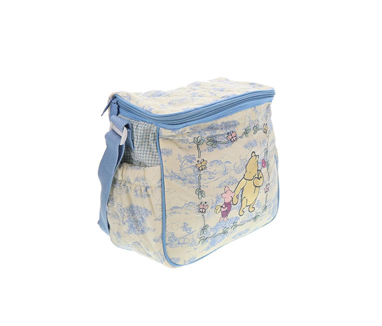 2dd2b8e9aa8d Disney Baby Classic Winnie The Pooh and Piglet Blue Diaper Bag ...