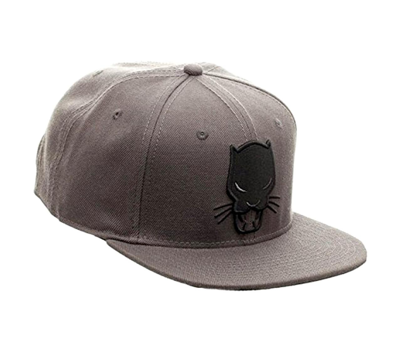 65957296 Bioworld Marvel Comics Black Panther Grey Snapback Hat Novelty ...
