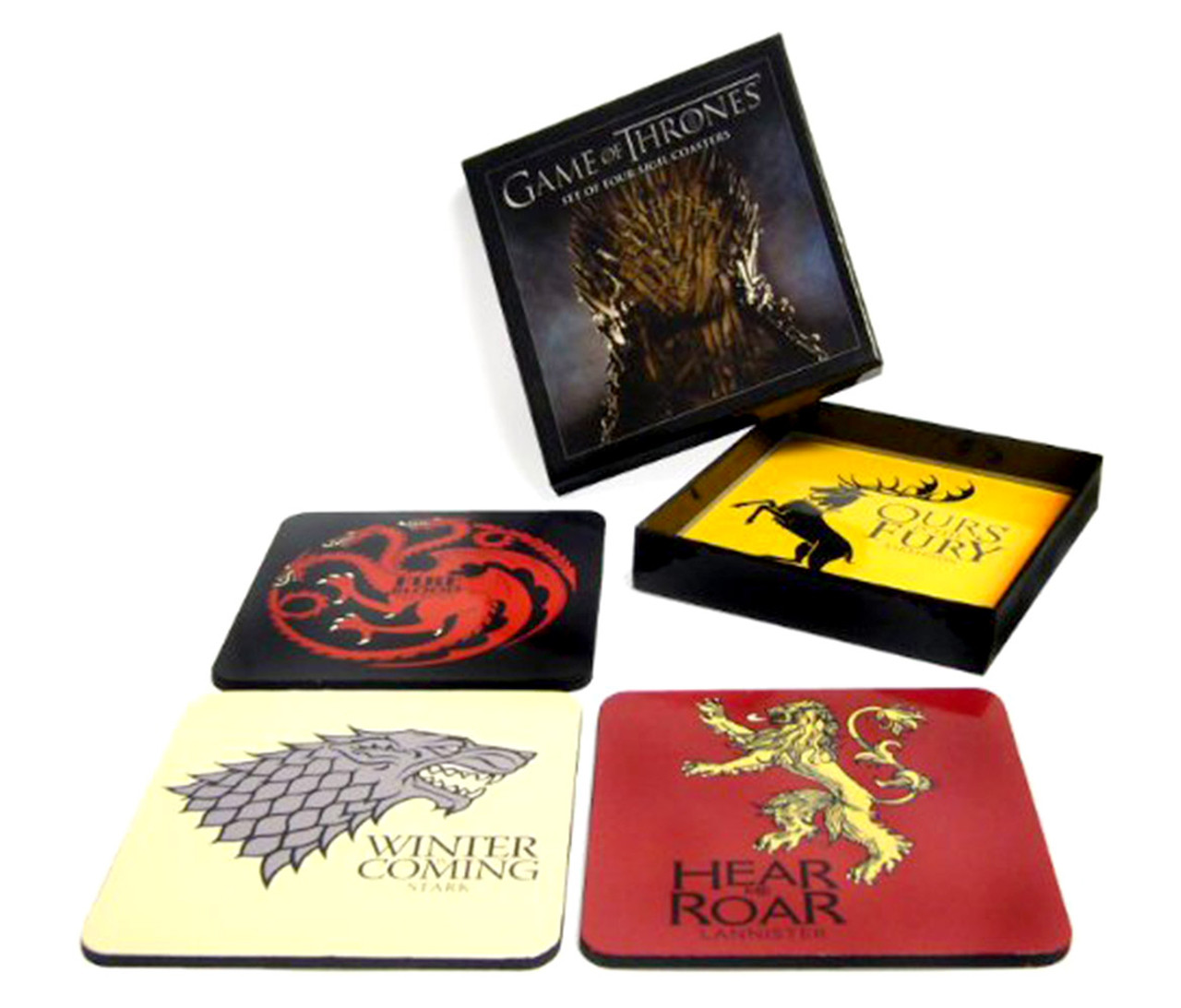 Dark Horse Deluxe Game Of Thrones House Sigil Coasters 4pc Set