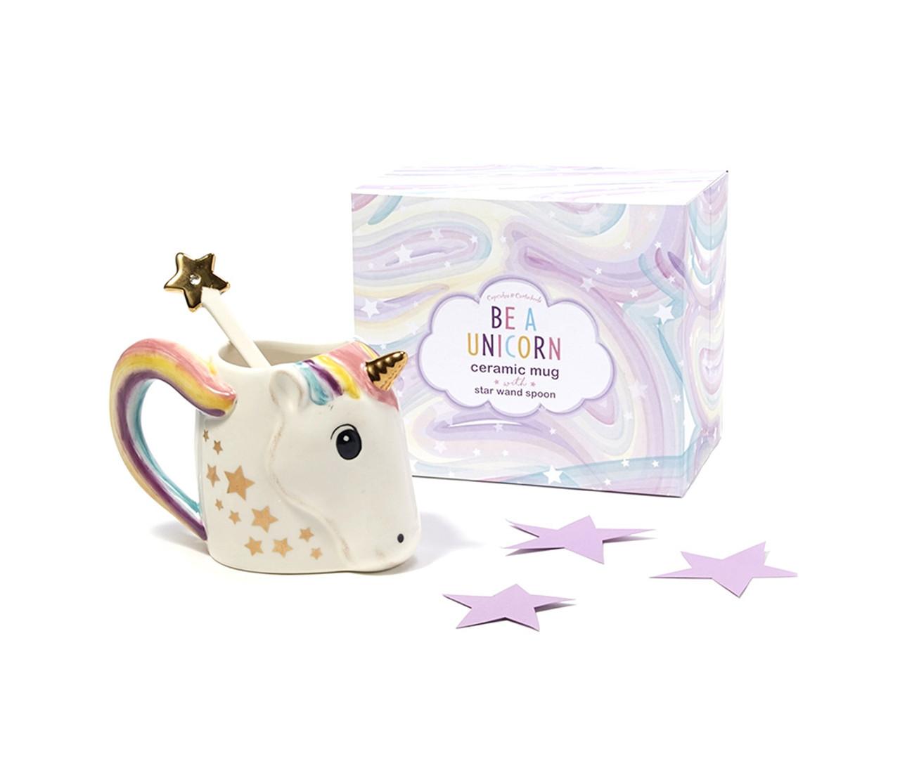 Cupcakes And Cartwheels Be A Unicorn White 12oz Ceramic Coffee Mug