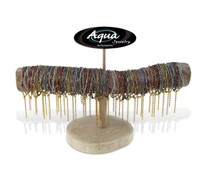Aqua Bracelets Package Multi Strand Matt Pastel
