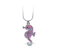 Sparkling Necklace Sea Horse