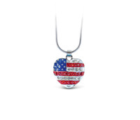 Sparkling Necklace American Heart