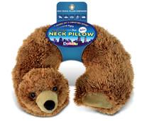Super Soft Plush Neck Pillow Grizzly Bear
