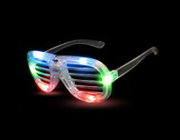 Multicolored LED Slotted Glasses Novelty Light Up Toy