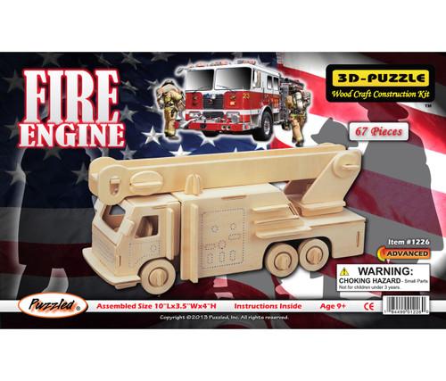 3D Puzzles Fire Engine