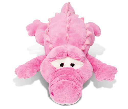 Stylish Plush Pillow Xl Pink Alligator