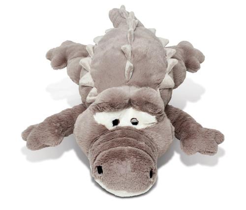 Stylish Plush Pillow Xl Grey Alligator