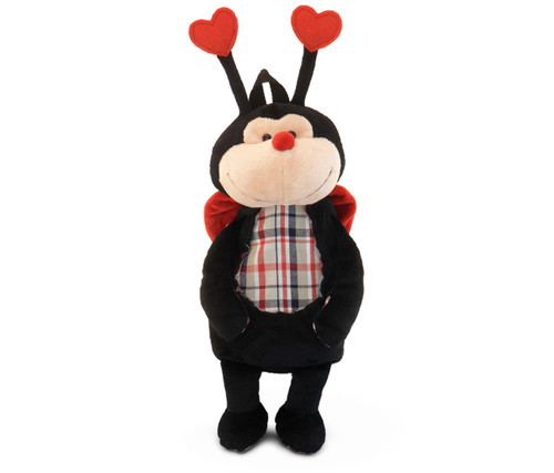 Stylish Plush Backpack Ladybug