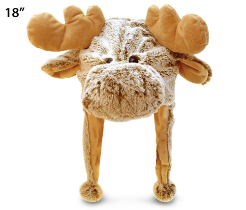 Super Soft Plush Hat Moose
