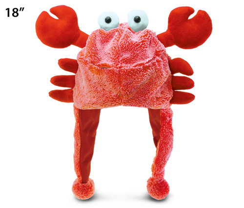 Super Soft Plush Hat Red Crab