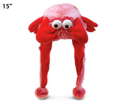Super Soft Plush Hat Red Lobster