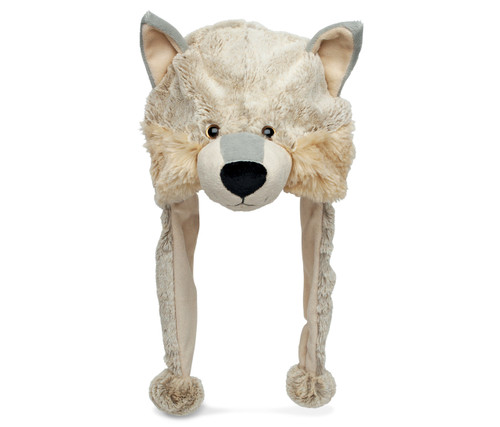 Super Soft Plush Hat Wolf