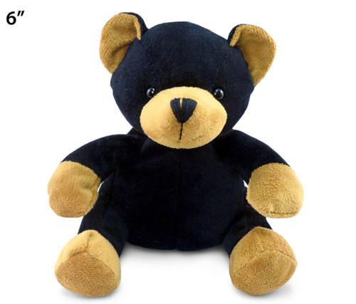6 Inches Plush Black Bear