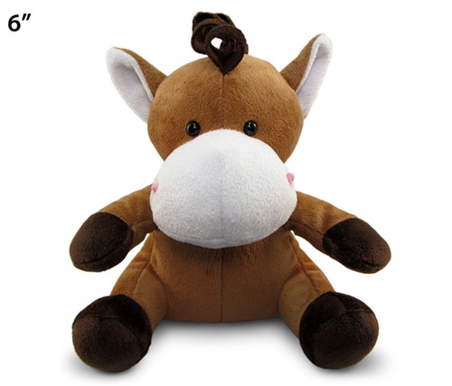 6 Inches Plush Horse