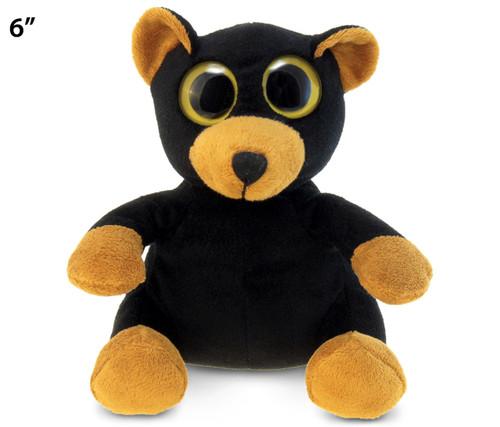 Big Eye 6 Inchews Plush Black Bear