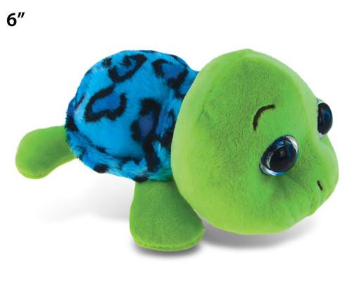 """Big Eye 6"""" Plush - Blue Shell Sea Turtle"""